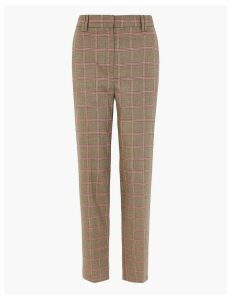 M&S Collection Freya Windowpane Checked Trousers