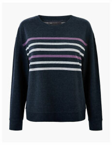 M&S Collection Striped Straight Fit Sweatshirt