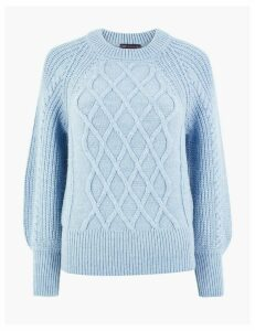 M&S Collection Argyle Cable Knit Jumper