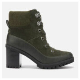 UGG Women's Redwood Lace up Heeled Boots - Black Olive