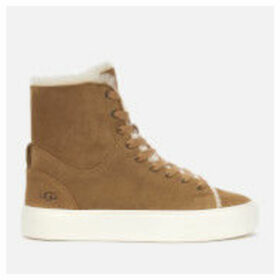 UGG Women's Beven Suede Hi-Top Trainers - Chestnut - UK 8