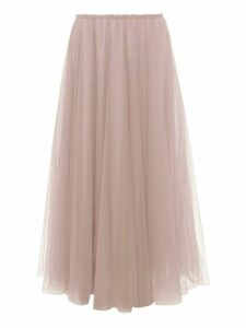 Raey - Elasticated-waist Tulle Maxi Skirt - Womens - Light Pink