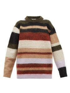 Acne Studios - Kalbah Striped Knitted Sweater - Womens - Burgundy Multi