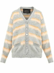 Marc Jacobs - Striped Silk Cardigan - Womens - Orange Multi