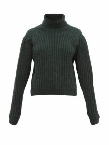 Apiece Apart - Nicola Puffed-sleeve Alpaca-blend Sweater - Womens - Green