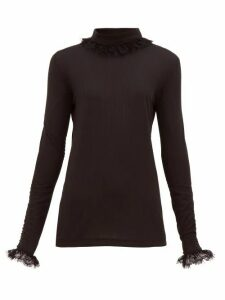Àcheval Pampa - Escalda Roll Neck Ribbed Jersey Top - Womens - Black