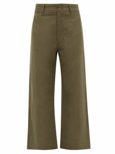 Apiece Apart - Merida Linen And Cotton-blend Twill Trousers - Womens - Khaki