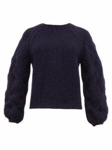 Apiece Apart - Seed Pointelle Alpaca-blend Sweater - Womens - Navy