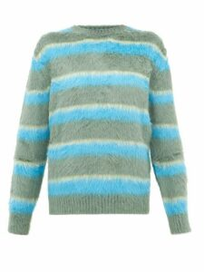 Marc Jacobs - Jacquard Stripe Carded Silk Sweater - Womens - Green Multi