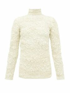 Lemaire - Popcorn High-neck Matelassé Top - Womens - Cream