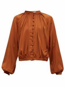 Àcheval Pampa - Gloria Silk-blend Satin Blouse - Womens - Brown
