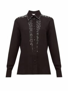 Givenchy - Crystal-embellished Silk-crepe Blouse - Womens - Black