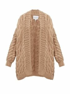 I Love Mr Mittens - Chunky Cable-knit Wool Cardigan - Womens - Beige