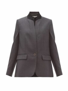 Stella Mccartney - Fleur Single-breasted Wool Jacket - Womens - Grey