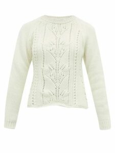 Brock Collection - Pointelle Cable-knit Wool-blend Sweater - Womens - Ivory