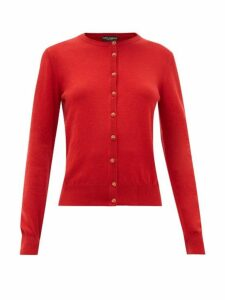 Dolce & Gabbana - Dg Crystal-button Cashmere Cardigan - Womens - Red