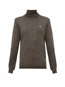 Bella Freud - Bootsy Lurex Roll Neck Sweater - Womens - Black