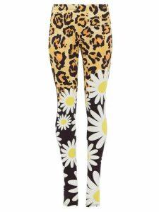 0 Moncler Genius Richard Quinn - Leopard And Floral-print Jersey Leggings - Womens - Leopard