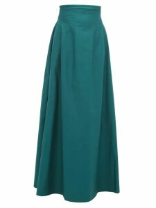 Khaite - Tabitha High-rise Cotton-twill Maxi Skirt - Womens - Green
