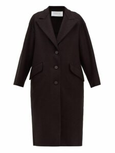Harris Wharf London - Oversized Single-breasted Pressed Wool Coat - Womens - Black