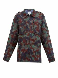 Myar - Camouflage-print Cotton-blend Shirt Jacket - Womens - Camouflage