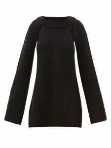 Khaite - Liz Cutout-raglan Sleeve Cashmere Sweater - Womens - Black