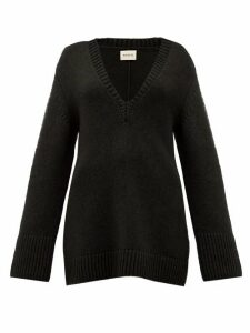 Khaite - Dana Braided-applique Cashmere Sweater - Womens - Black