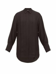 Joseph - Cinna Silk-blend Pleated Shirt - Womens - Black