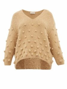 Vika Gazinskaya - Pom-pom Appliqué Sweater - Womens - Camel