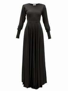 Lemaire - Pleated-sleeve Bias-cut Modal-jersey Maxi Dress - Womens - Black