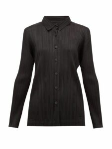 Pleats Please Issey Miyake - Pleated Shirt - Womens - Black