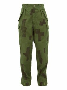 Myar - Camouflage-print Cotton Trousers - Womens - Green