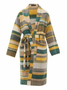 The Elder Statesman - Belted Long Line Striped Cashmere Cardigan - Womens - Multi
