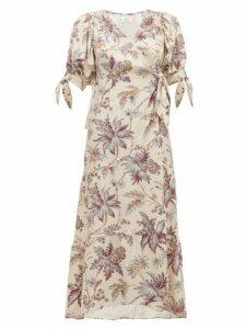 Sir - Avery Floral-print Silk Wrap Dress - Womens - Multi