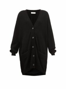 Marques'almeida - Oversized Merino Wool Cardigan - Womens - Black