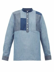 A.p.c. - Isaure Patchwork Cotton-chambray Shirt - Womens - Denim