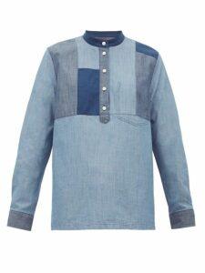 A.P.C. - Isaure Patchwork Cotton-chambray Shirt - Womens - Denim