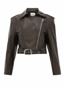 Khaite - Jennifer Silk-lined Leather Biker Jacket - Womens - Black