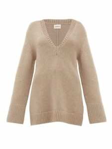 Khaite - Dana Braided-appliqué Cashmere Sweater - Womens - Beige