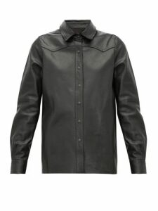 Nili Lotan - Juline Snake-effect Leather Shirt - Womens - Black