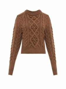 Isabel Marant - Milford Cable-knit Wool Sweater - Womens - Brown