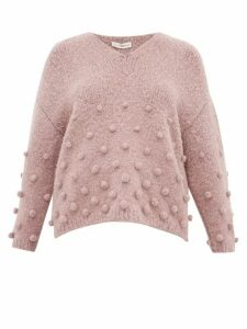 Vika Gazinskaya - Oversized Bobble Stitch Sweater - Womens - Light Pink
