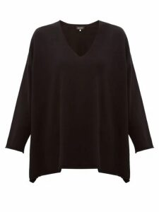 Eskandar - V-neck Cashmere Sweater - Womens - Black