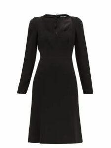 Dolce & Gabbana - Sweetheart-neckline Crepe Dress - Womens - Black