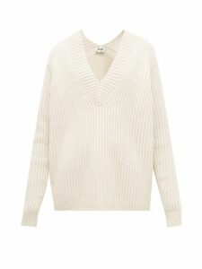 Acne Studios - Keborah V Neck Wool Sweater - Womens - Ivory