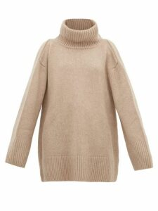 Khaite - Tenille Slit-shoulder Cashmere Sweater - Womens - Beige