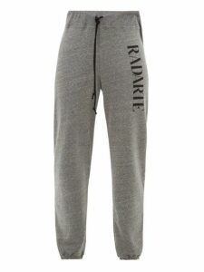 Rodarte - Radarte-print Fleece-back Jersey Track Pants - Womens - Grey