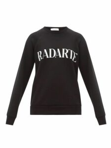 Rodarte - Logo-print Cotton-jersey Sweatshirt - Womens - Black White