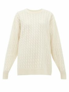 The Row - Minorj Cable-knit Cashmere-blend Sweater - Womens - Ivory