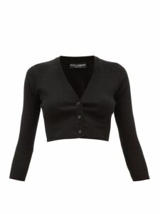 Dolce & Gabbana - Cropped Cashmere-blend Cardigan - Womens - Black